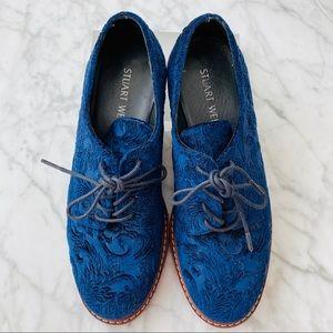 Stuart Weitzman shoes - Navy Blue Velvet